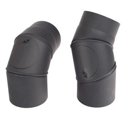 221748 Koleno dymové nastaviteľné 0-90° 150/1,5 mm čierne VAPK