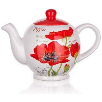 333082 Kanvica 1200 ml Red Poppy, BANQUET