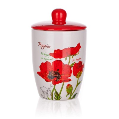 333105 Dóza s viečkom 600 ml Red Poppy, BANQUET