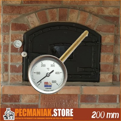 63620012 Teplomer do pece 0-500 °C 200 mm Pecmaniak CEWALS