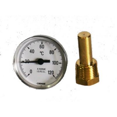 91625050 Dvierkový teplomer do udiarne 0-120 °C CEWAL