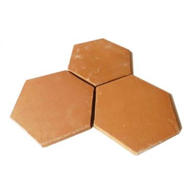 Terakotová hexagon dlažba 24 cm