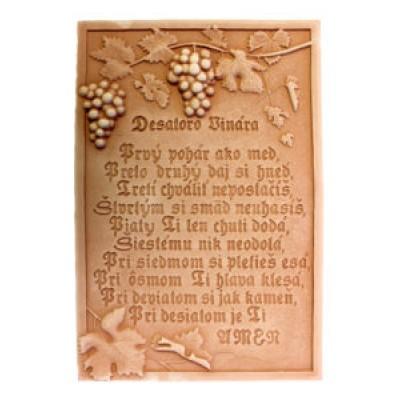 Terracotta reliéf Desiatoro vinára 32 X 45 cm