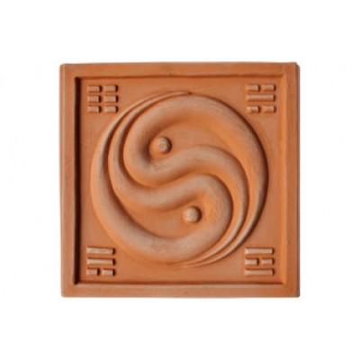 Terracotta reliéf Jing - Jang 20 X 20 cm