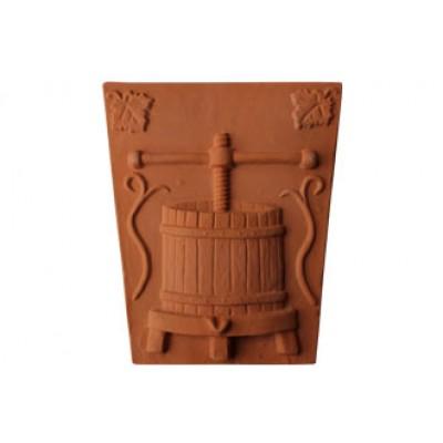 Terracotta centrálný klenbový kus Lis