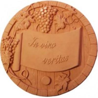Terracotta reliéf Sud d:40 cm