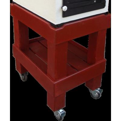 1150051 Drevený podstavec s kolieskami pre mobilné pece Tynker PECMANIAK