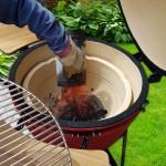 """13067 Kamado Egg 21"""" záhradný grill BBQ M d 51 cm červený PERFECT HOME"""