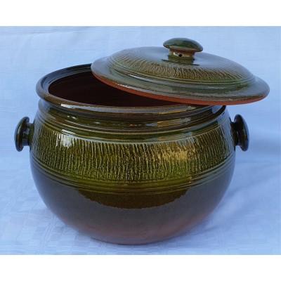 4150218 GERI Keramický hrniec 18 litrové, glazúrovaný