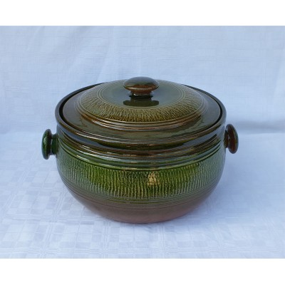 4150312 GERI Keramický kastról na pečenie 12 litrové, glazúrovaný