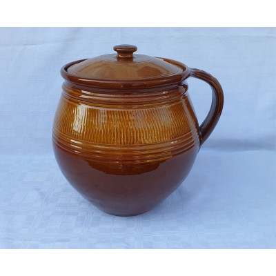 4150407 GERI Keramický hrniec na polievku 7 litrové, glazúrovaný