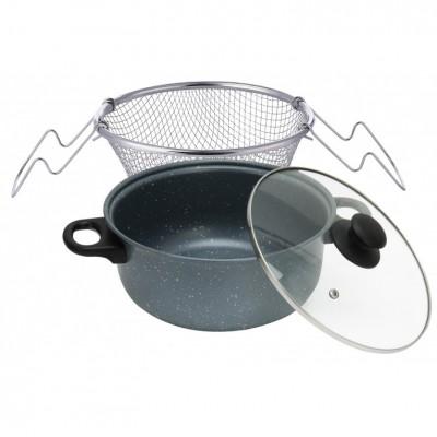 12423 Fritovací hrniec set na pečenie zemiaky 3,5 lit PERFECT HOME