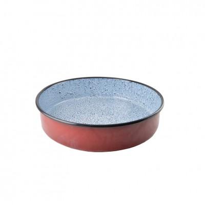 53077 Pekač okrúhly červený smaltované 45 cm PERFECT HOME