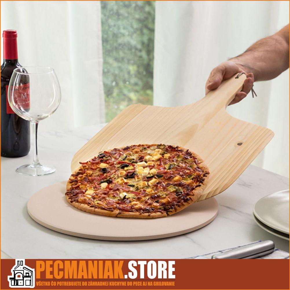 7889208 Kameň na pečenie pizzu s drevenou lopatkou ACHI
